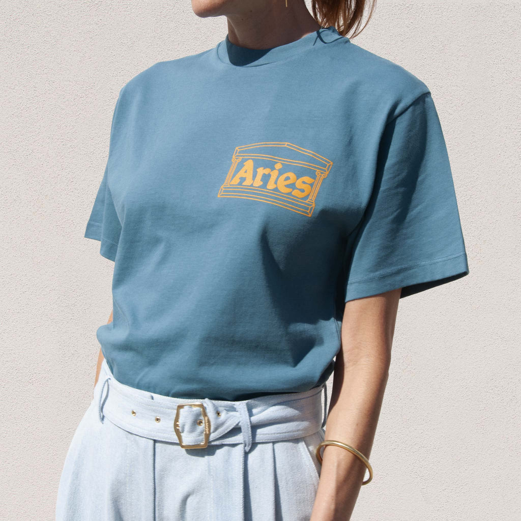 Aries - Classic Temple Tee - Hydro, angled view, available at LCD.