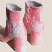 Load image into Gallery viewer, MM6 - Ankle Boot - Pink Terry Cloth, back view, available at LCD.