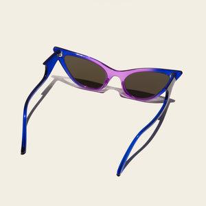 Adam Selman x Le Specs - The Prowler - Cobalt Violet Fade, back view, available at LCD.