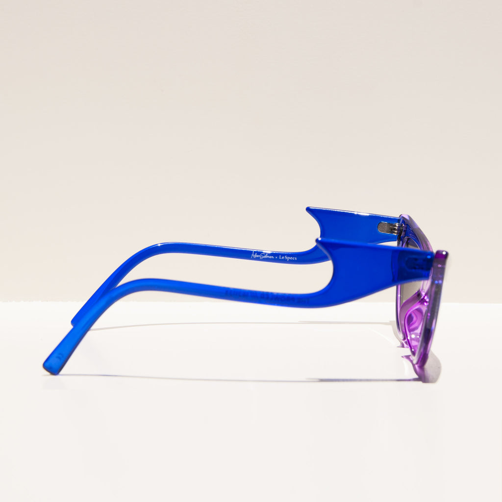 Adam Selman x Le Specs - The Prowler - Cobalt Violet Fade, side view, available at LCD.