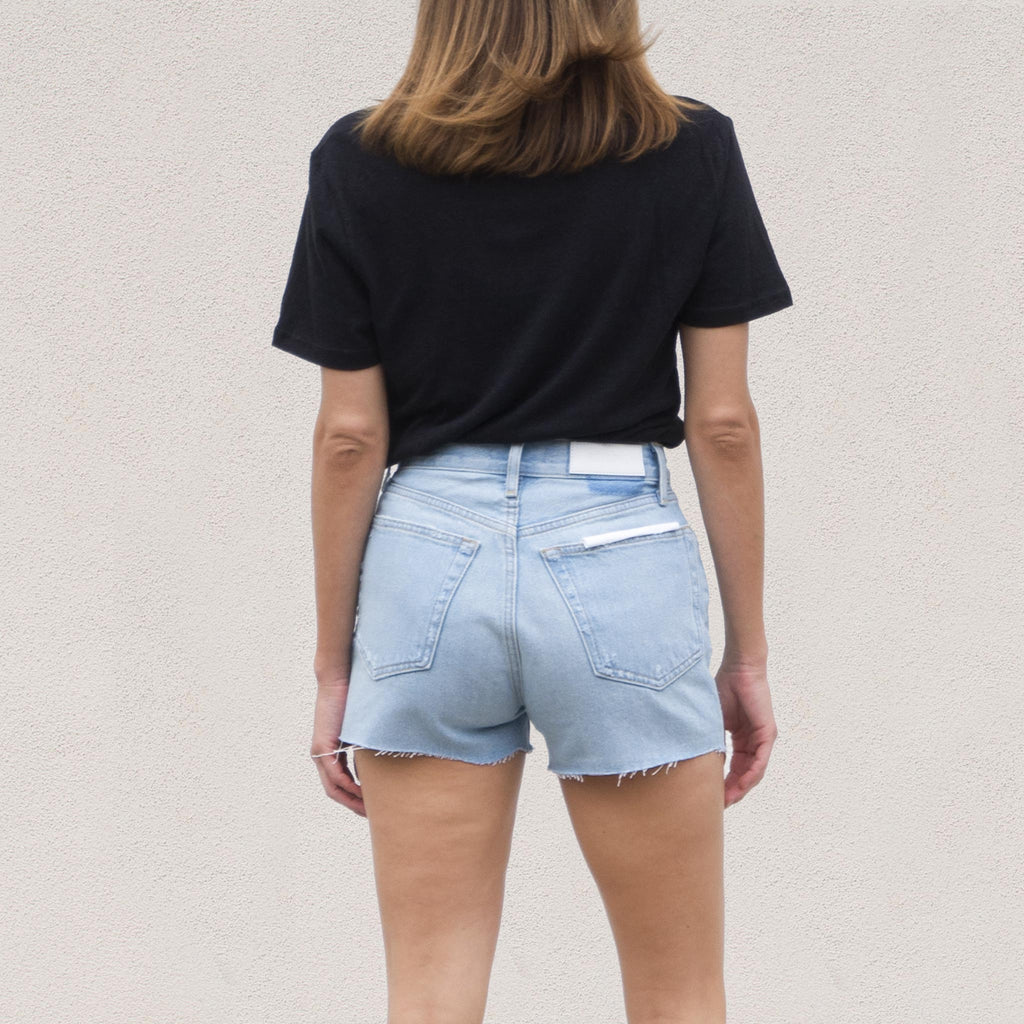 Re/DONE - 70s High Rise Short, back view, available at LCD.