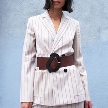 Load image into Gallery viewer, Tibi - Tropical Wool Blazer with Sleeve Slit, front view, available at LCD.
