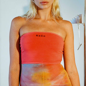 Kkco - Tube Top in Coral, front view, available at LCD.