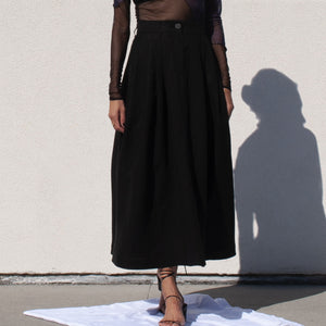 Mara Hoffman - Tulay Skirt, front view, available at LCD.