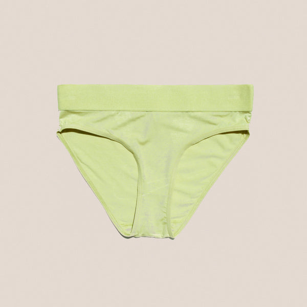 Baserange - Elastic Bell Pants in Tulip Green, available at LCD.