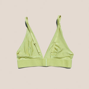 Baserange - Bamboo Jersey Triangle Bra in Tulip Green, available at LCD.