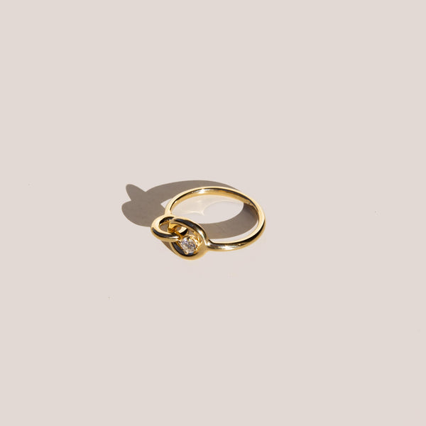 Charlotte Chesnais - Twin Ring Solitaire, available at LCD.