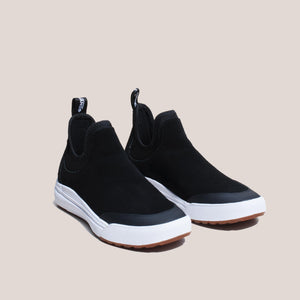 Vans - UltraRange 3D Chelsea Shoes - Black, angled view, available at LCD.
