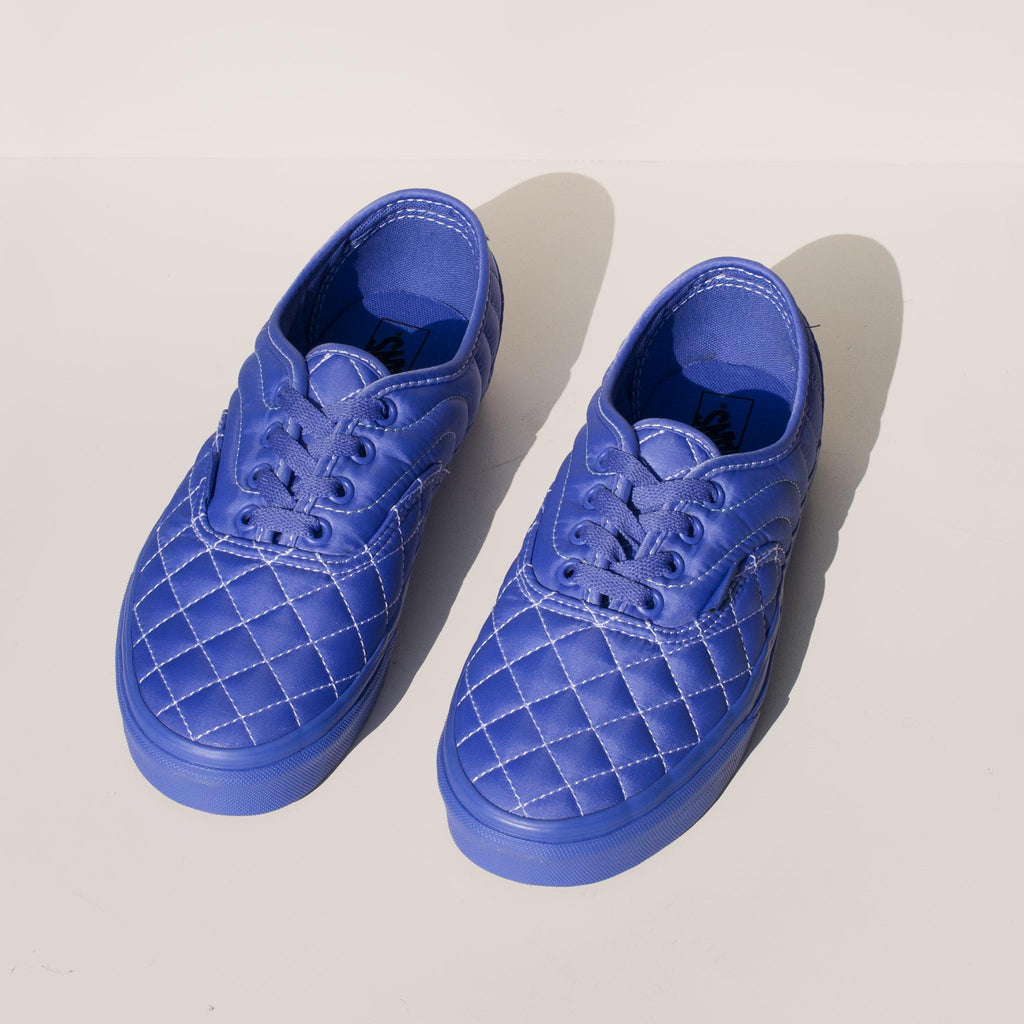 Vans - Vans x OC Quilted Authentic in Baja Blue, angled view.