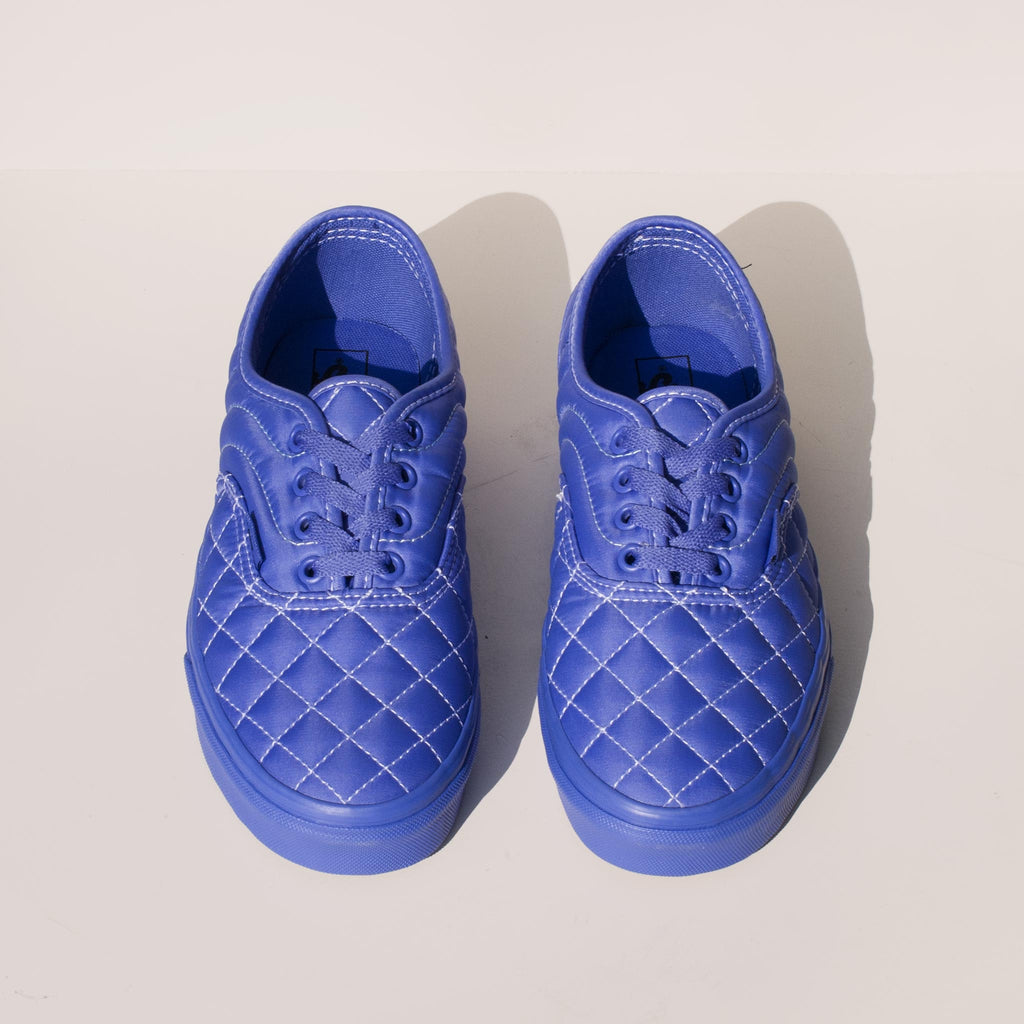 Vans - Vans x OC Quilted Authentic in Baja Blue, front view.
