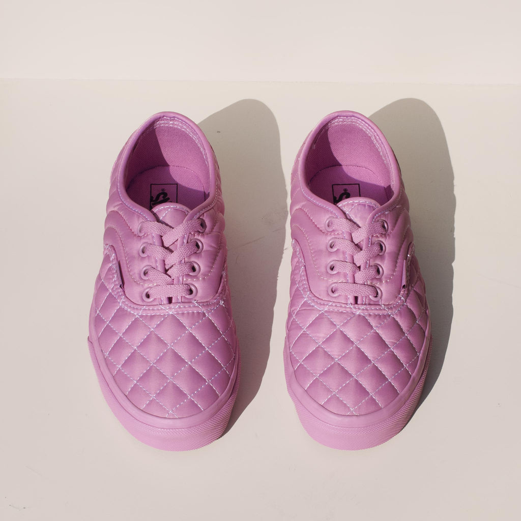 Vans - Vans x OC Quilted Authentic in Orchid, front view.