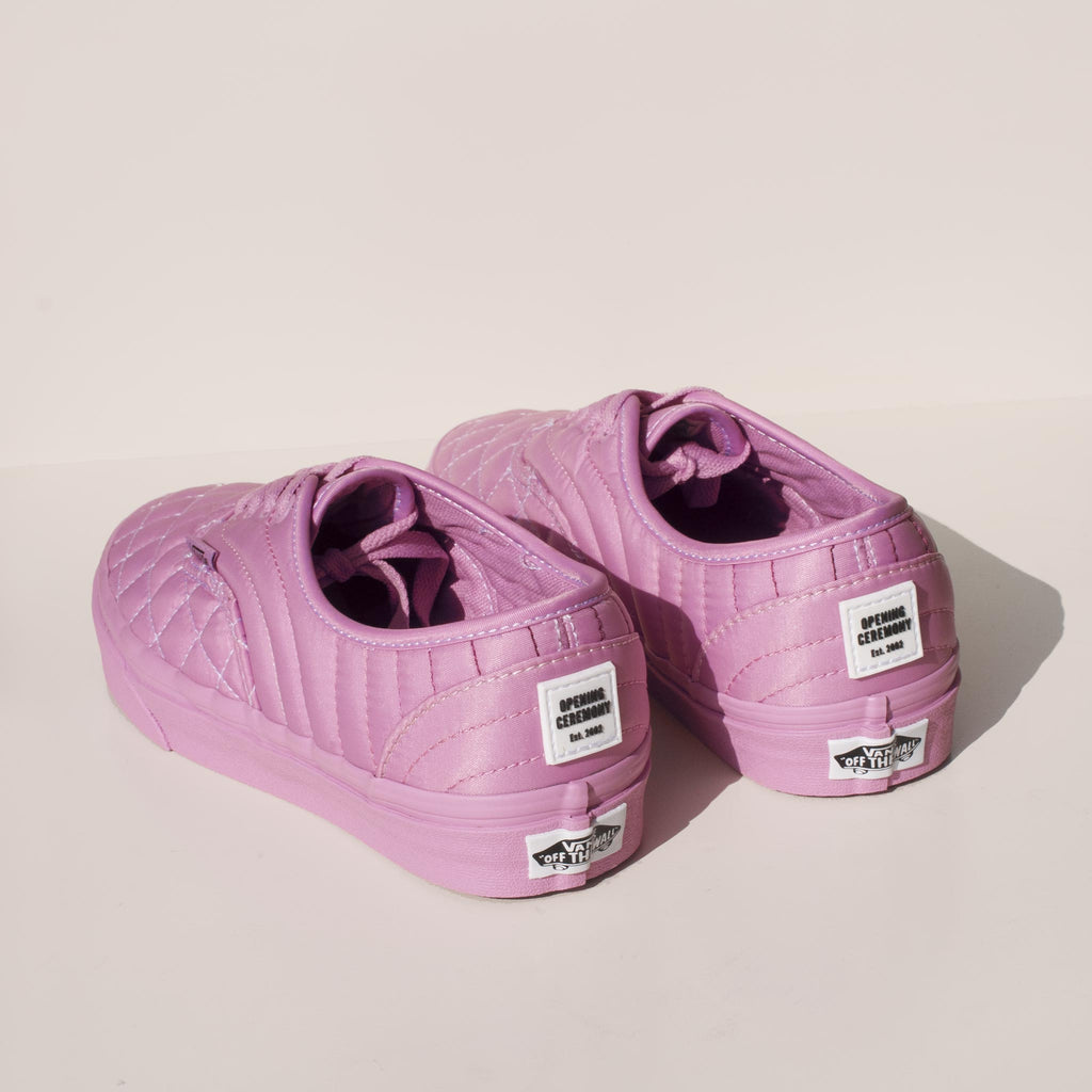Vans - Vans x OC Quilted Authentic in Orchid, back view.