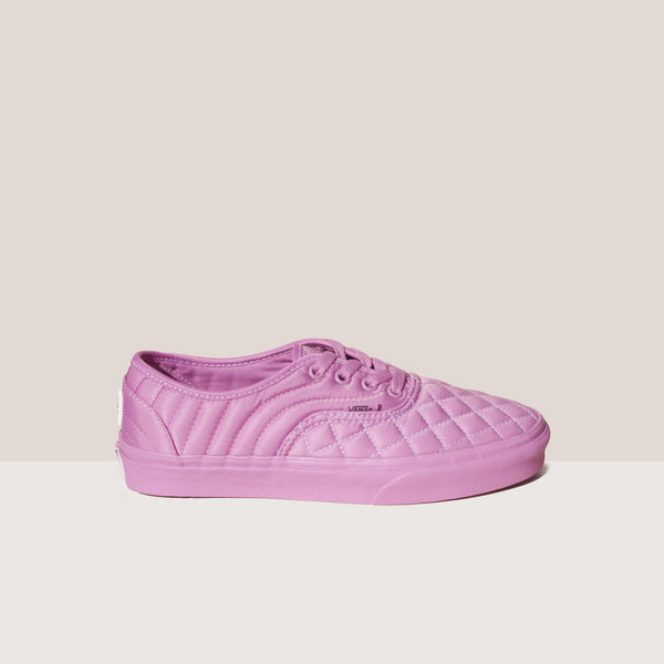 Vans - Vans x OC Quilted Authentic in Orchid, side view.