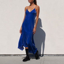 Load image into Gallery viewer, Walk of Shame - Velvet Slip Dress, angled view, available at LCD.