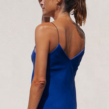 Load image into Gallery viewer, Walk of Shame - Velvet Slip Dress, back view, available at LCD.
