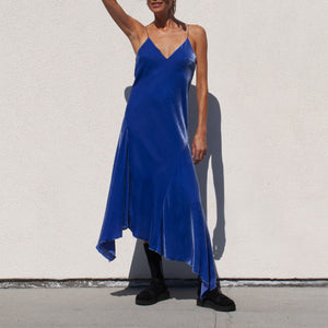 Walk of Shame - Velvet Slip Dress, front view, available at LCD.