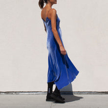 Load image into Gallery viewer, Walk of Shame - Velvet Slip Dress, side view, available at LCD.