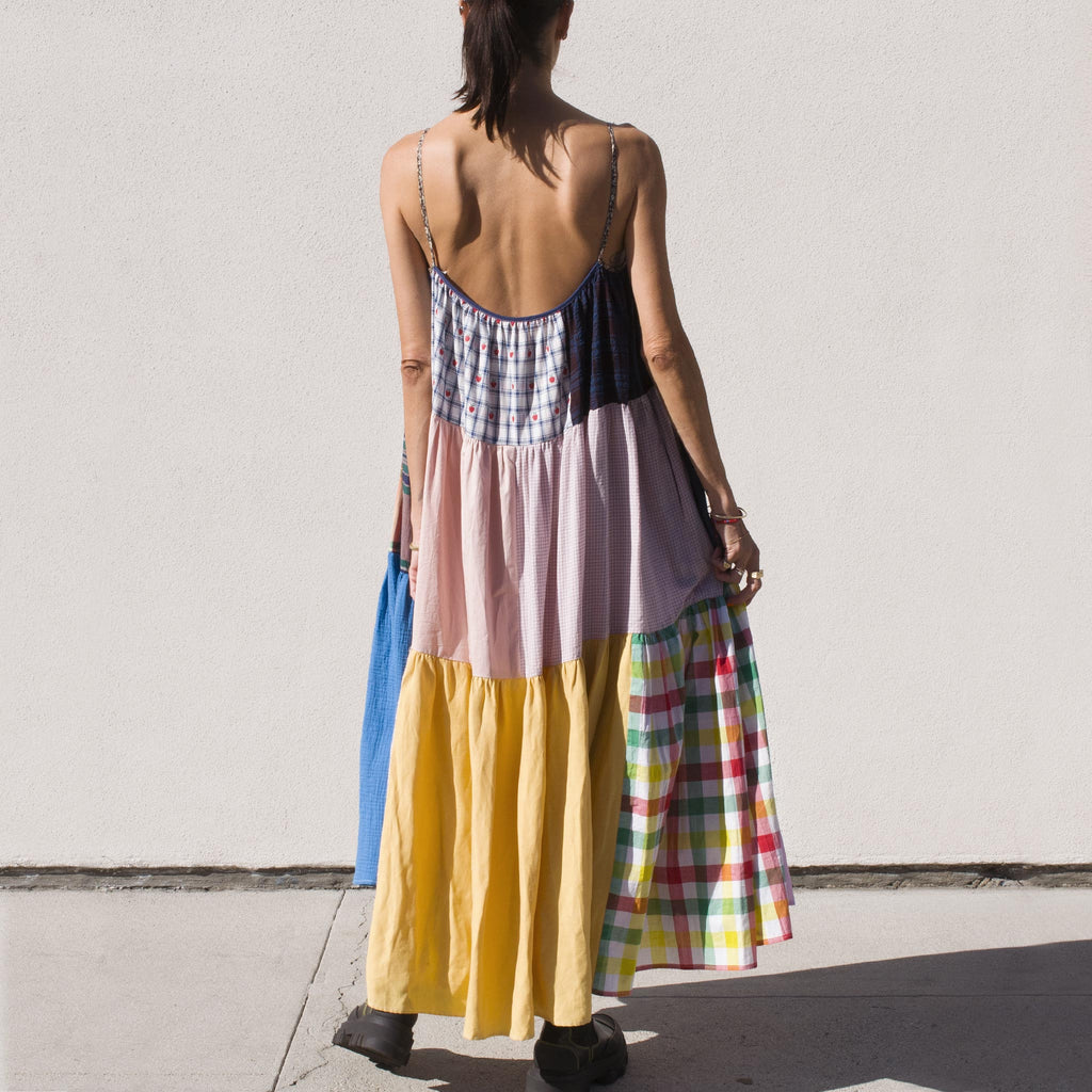 La Reunion - La Réunion - Vibrant Patchwork Dress, No. 2, back view.