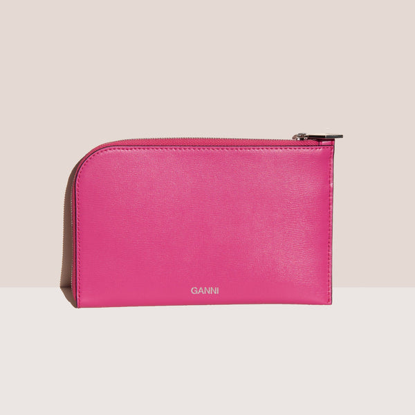 Ganni - Wallet - Shocking Pink, available at LCD.