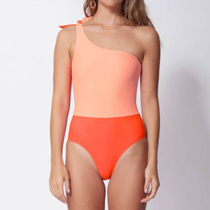 Bower Swimwear - White Horse One Piece - Neon Multi, available at LCD