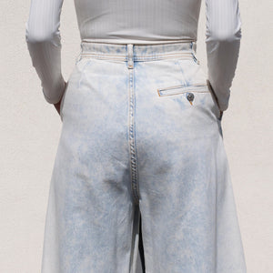 MM6 - Wide-leg Jeans, back detail view, available at LCD.