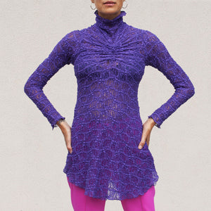 Sies Marjan - Willie Lace Ruched Center Longsleeved Top, front view, available at LCD.