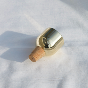 Fort Standard - Mass Wine Stopper - Brass Dome, available at LCD