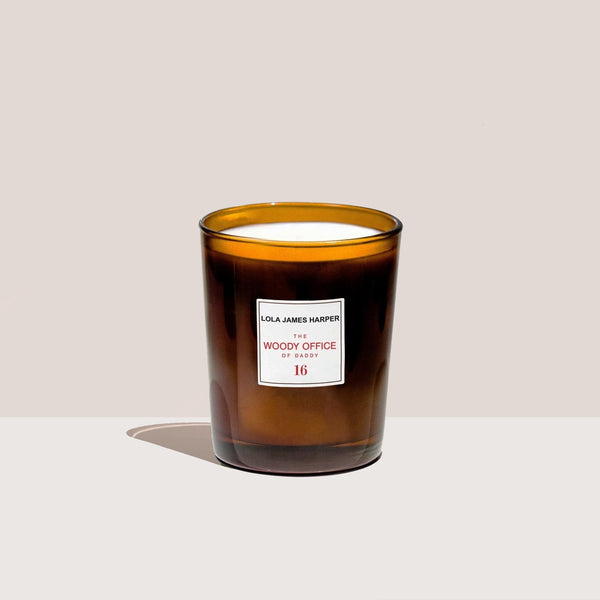 Lola James Harper - Woody Office Candle, available at LCD.