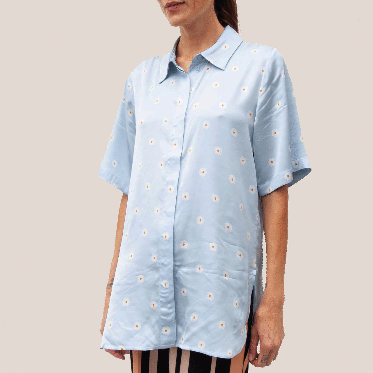 Stine Goya - Zoey Button Down, front view, available at LCD.