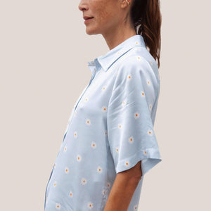 Stine Goya - Zoey Button Down, side view, available at LCD.