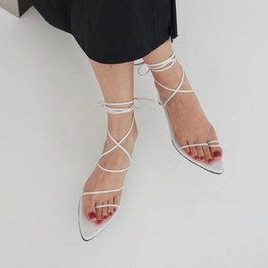 Reike Nen - Odd Pair Sandals - White, Available at LCD