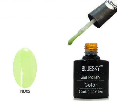 Bluesky ND02 Green Nude - UV LED Gel Soak off Nail Polish 10ml