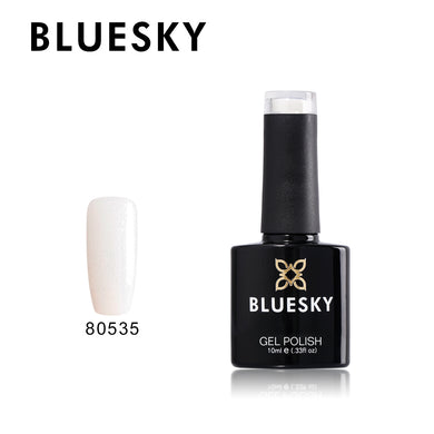 80535  Bluesky gel polish - SILVER GLITTER 10ml