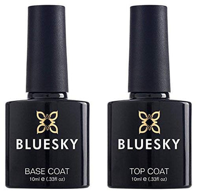 BLUESKY Top Coat and Base Coat Pack -UV LED Gel Nail Polish 10ml
