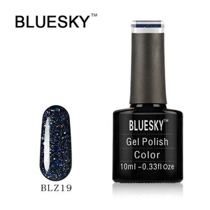 Bluesky BLZ19 UV/LED Glitter Gel Nail Polish, 10 ml