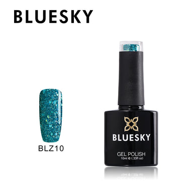 BLZ10 - Bluesky DIAMOND GLITTER TEAL BLUE GREEN - UV Gel 10ml