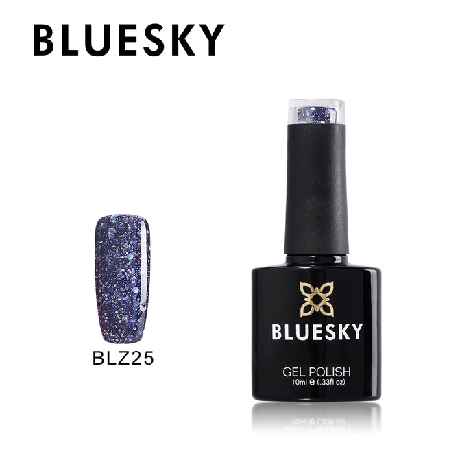 BLZ25 - Bluesky Gel Polish DIAMOND GLITTER DEEP PURPLE - UV Gel 10ml
