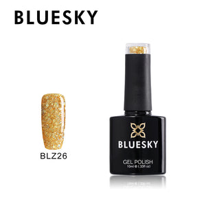 BLZ26 - Bluesky DIAMOND GLITTER MELLOW YELLOW  - UV Gel 10ml