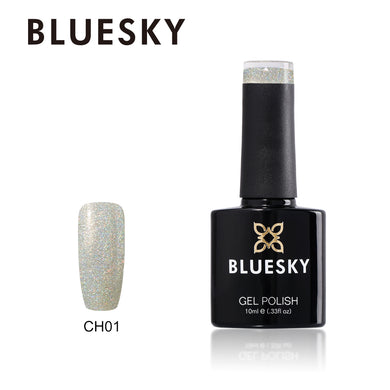 Bluesky CH01 HOLOGRAPHIC GLITTER UV/LED Soak Off Gel Nail Polish 10ml