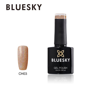 Bluesky CH03 HOLOGRAPHIC GLITTER UV/LED Soak Off Gel Nail Polish 10ml