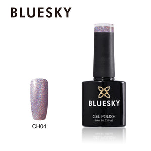 Bluesky CH04 HOLOGRAPHIC GLITTER UV/LED Soak Off Gel Nail Polish 10ml