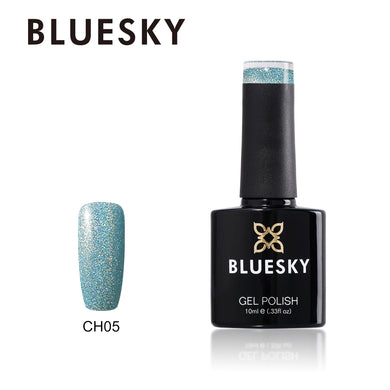 Bluesky CH05 HOLOGRAPHIC GLITTER UV/LED Soak Off Gel Nail Polish 10ml