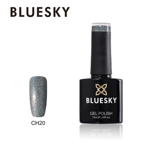Bluesky CH20 HOLOGRAPHIC GLITTER UV/LED Soak Off Gel Nail Polish 10ml