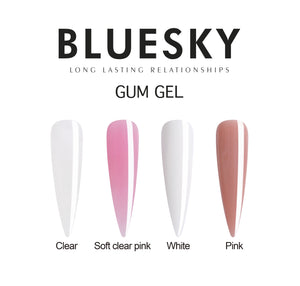 Bluesky Gum Gel 60ml Pink - With 10 Extension Tips