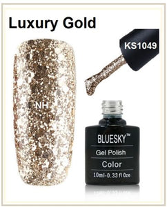 Bluesky Luxury Gold Glitter Ideal For Christmas UV LED Nail Gel
