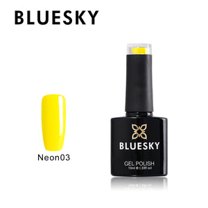 BLUESKY Neon 03 - Mustard Yellow with top and Base Set 3 x 10ml
