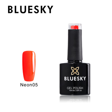 BLUESKY Summer Starter Pack Neon 05 - Orange Zest  with Top and Base 10ml