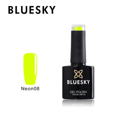 BLUESKY Summer Starter Pack Neon 08 -Yellowish Green with Top and Base 10ml