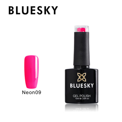BLUESKY Summer Starter Pack Neon 09 - Party Pink  with Top and Base 10ml