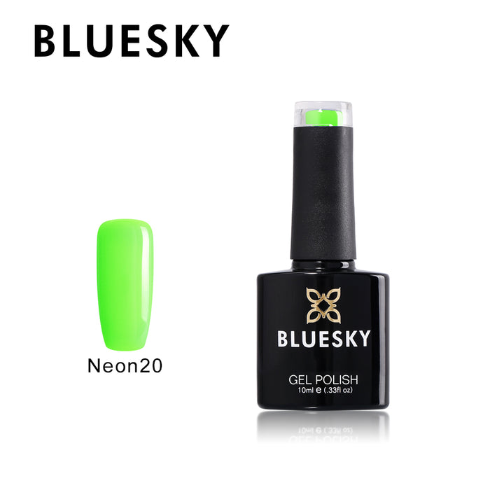 Neon 20 BLUESKY - Lime Green Gel 10ml